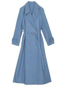 Medium flare coat blu