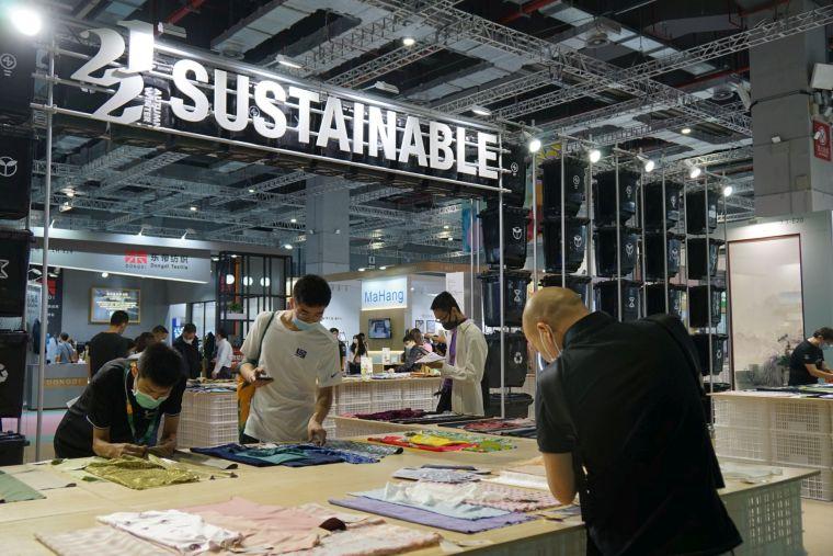 インテキ上海ではサステナブルのコーナーが設置